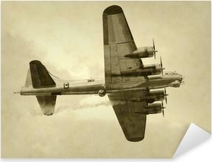 Maailman sodan ii aikakausi amerikkalainen pommikone Pixerstick Tarra