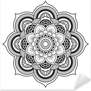 Mandala. pyöreä koriste-kuvio Pixerstick Tarra