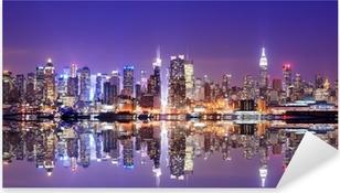 Manhattan-horisontti, jossa heijastukset Pixerstick Tarra