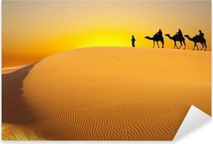 Matkustaa kamelin kanssa Pixerstick tarra
