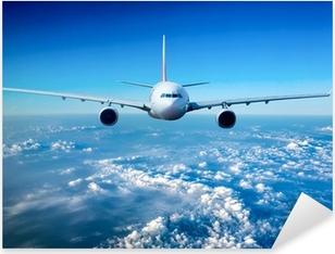 Matkustajien matkustajakuljettaja taivaalla Pixerstick tarra
