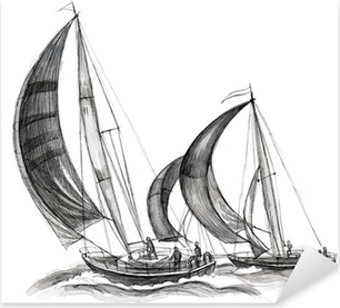 Meri-veneitä Pixerstick tarra