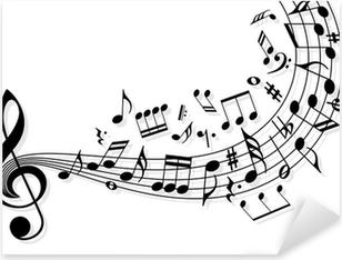 Musiikin muistiinpanoja Pixerstick Tarra