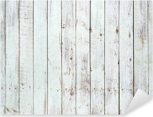 Musta ja valkoinen tausta puinen lankku Pixerstick Tarra