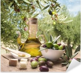 Öljyä ja oliiveja Pixerstick tarra