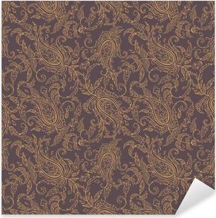 Paisley-kangasominaisuus saumaton malli Pixerstick tarra