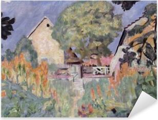Pierre Bonnard - Kotini Vernonissa - puutarha Pixerstick tarra