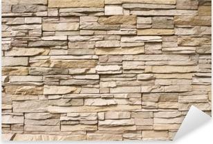 Pinottu kivimuuri tausta vaaka Pixerstick Tarra