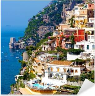 Positano, italia. amalfin rannikolla Pixerstick tarra