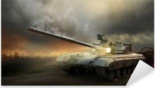 Raskas panssari taistelun tulessa Pixerstick Tarra