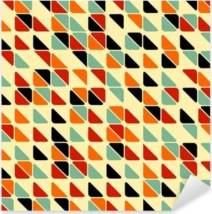 Retro abstrakti saumaton malli kolmiot Pixerstick tarra