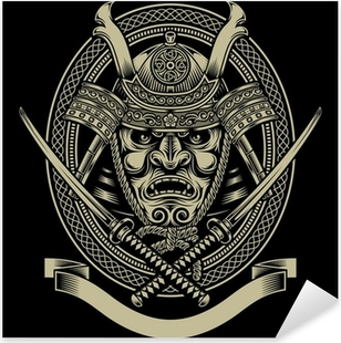 Samurai soturi katana miekalla Pixerstick tarra