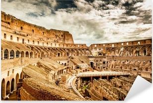 Sisällä colosseum rome, italia Pixerstick tarra