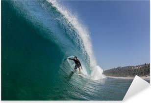 Surfing putki ratsastaa suuri aalto Pixerstick tarra