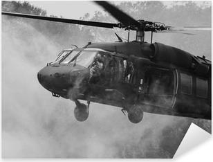 Uh-60 mustahawk helikopteri Pixerstick Tarra