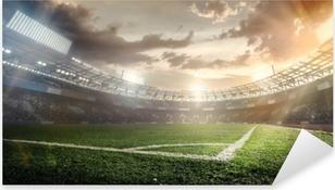 Urheilu taustat. jalkapallostadionilla. Pixerstick tarra