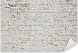 Valkoinen grunge tiiliseinä taustalla Pixerstick Tarra