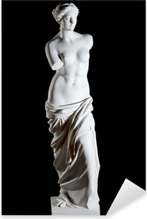 "Valkoinen marmori klassinen patsas ""aphrodite milos"" eristetty Pixerstick tarra"