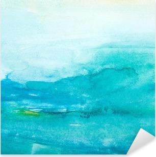 Värien lyöntiä vesiväri maalaus art Pixerstick Tarra