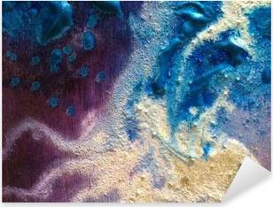 Värikäs maali koostumus. vihreä ja hopea. violetti ja sininen Pixerstick tarra