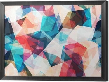 Tavla i Ram Färgad mosaik sömlösa mönster med grunge effekt