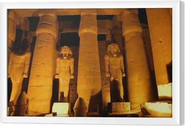 Tavla i Ram Giant kolumner av forntida egyptisk stad Luksor