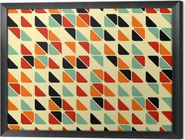 Tavla i Ram Retro abstrakt sömlösa mönster med trianglar