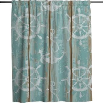 Tenda da doccia Consigli di ponte della nave seamless pattern