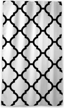 Tenda oscurante per finestre Marocchino seamless in bianco e nero