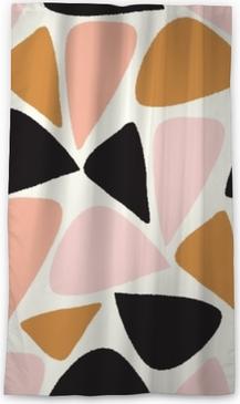 Tenda oscurante per finestre Vector il modello di ripetizione senza cuciture geometrico astratto in rosa, oro, in bianco e nero