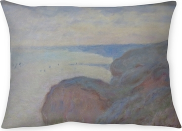 Claude Monet - Steef Cliffs near Dieppe Throw Pillow