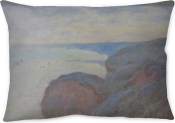 Claude Monet - Steef Cliffs near Dieppe Throw Pillow