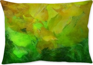 Colorful Abstract Painting Throw Pillow
