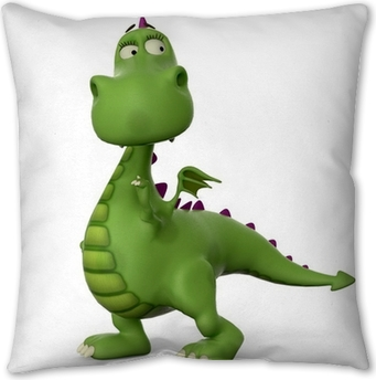 Green Baby Dinosaur Crazy Jump Throw Pillow Pixers We Live To Change
