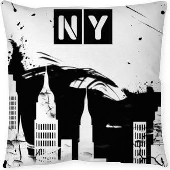 New York Doodle fast food seamless pattern American symbols