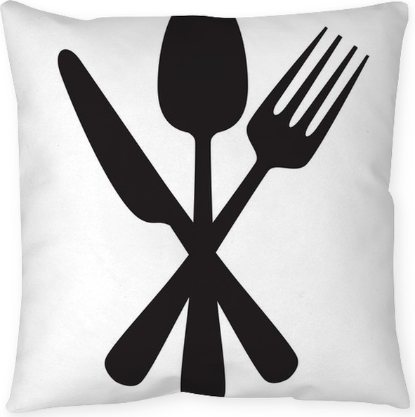 Knife Fork And Spoon Throw Pillow Pixers We Live To Change