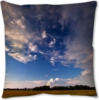 Landscape With Country Road And Rainbow Throw Pillow Pixers We Live To Change
