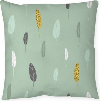 Leaf pattern. Throw Pillow