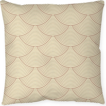 Linear scales seamless pattern Throw Pillow