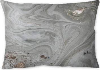 Marble abstract background with golden powder. Nature texture. Throw Pillow