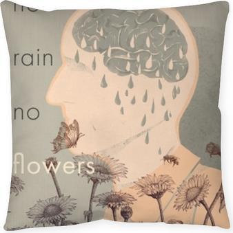 No rain, no flowers Throw Pillow