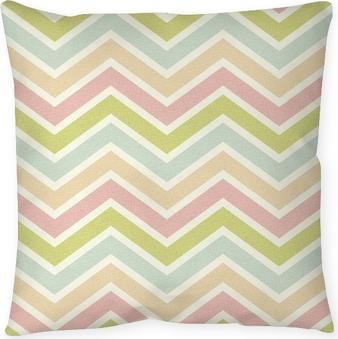 seamless chevron pattern Throw Pillow