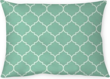 Seamless turquoise wide moroccan pattern vector Throw Pillow