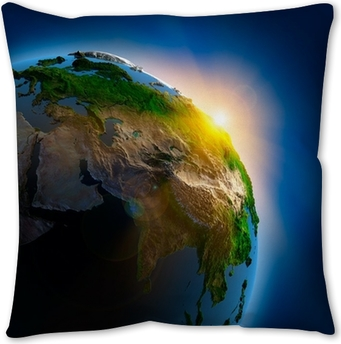 Sunrise Over The Earth In Outer Space Wall Mural Pixers We Live To Change
