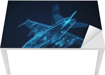 Leinwandbild 3d Drahtmodell Skizze von F-18 Hornet • Pixers® - Wir ...