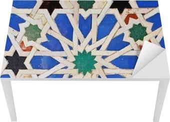 Tischaufkleber und Schreibtischaufkleber Alcázar von Sevilla, Fliesen