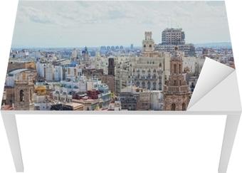 Tischaufkleber und Schreibtischaufkleber Angesichts der historischen Zentrum von Valencia