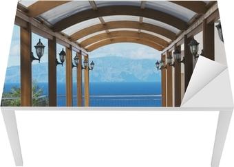 Tischaufkleber und Schreibtischaufkleber Blick auf die Insel Gomera