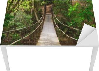 Tischaufkleber und Schreibtischaufkleber Brücke zum Dschungel, Khao Yai Nationalpark, Thailand
