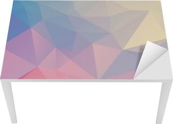 Tischaufkleber und Schreibtischaufkleber Bunte Polygon